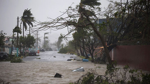 Flooding in Puerto Rico as a result of Hurricane Maria