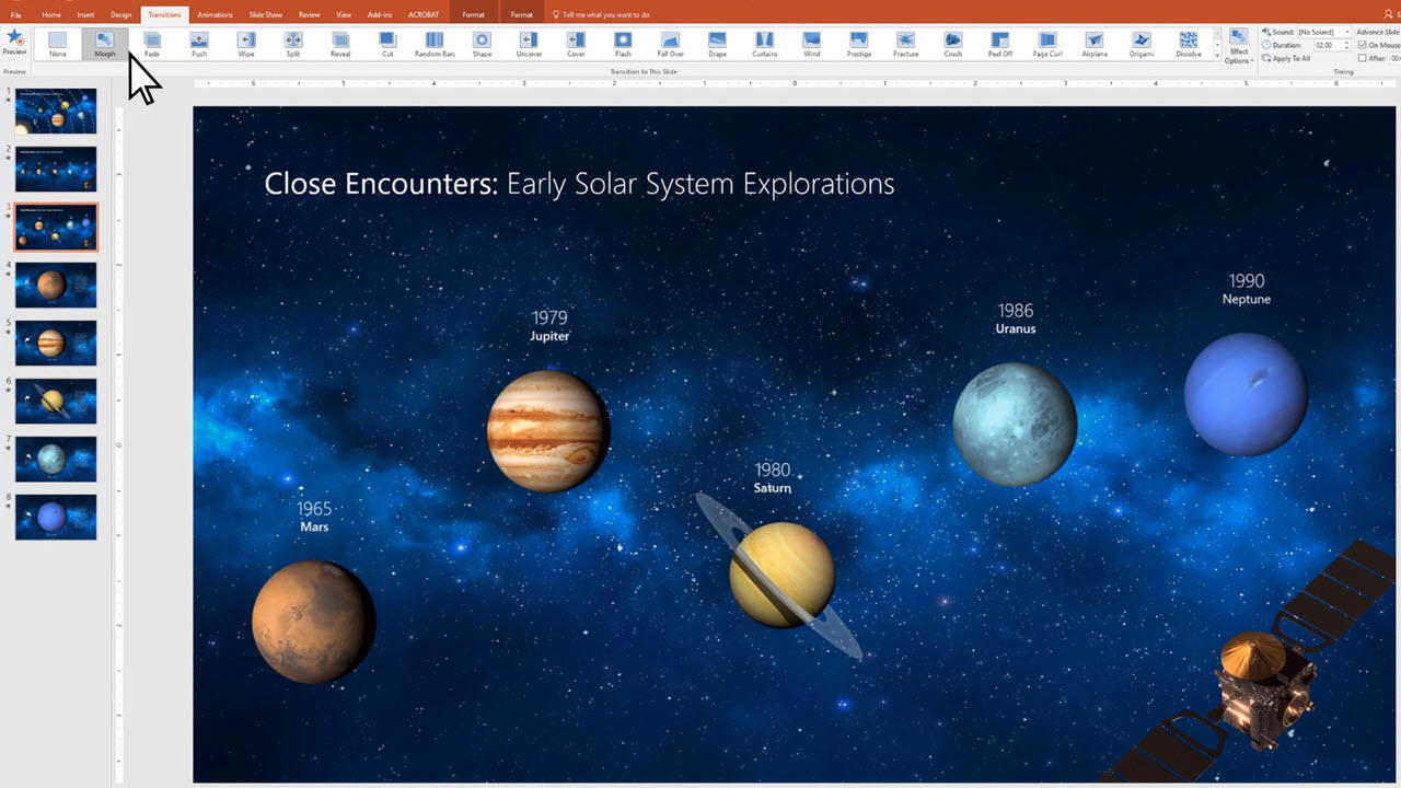 Use The Morph Transition In Powerpoint Office Support Interactive Solar System Wiring Diagram