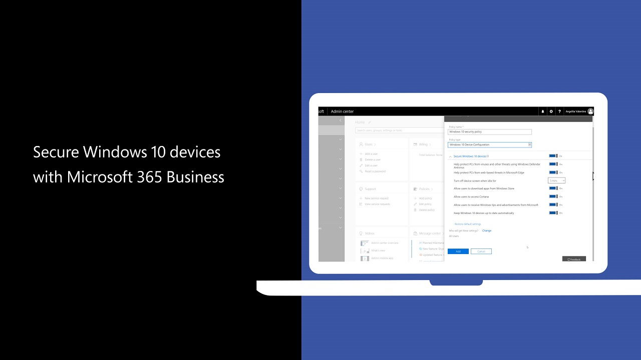 Secure Windows 10 devices with Microsoft 365 Business