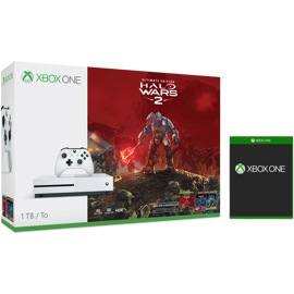 Xbox One S 1TB Console - Halo Wars 2 Bundle + Free Game of Choice