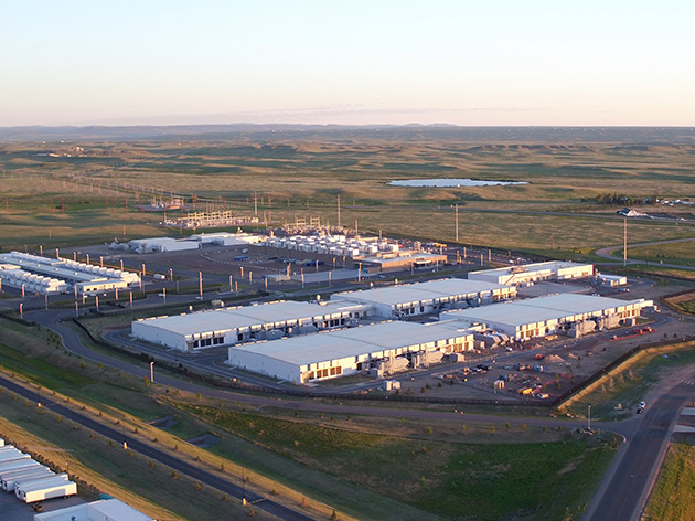 Aerial view of Wyoming datacenter