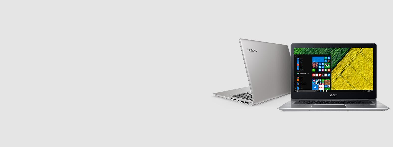 Laptops der Marken Lenovo und Acer