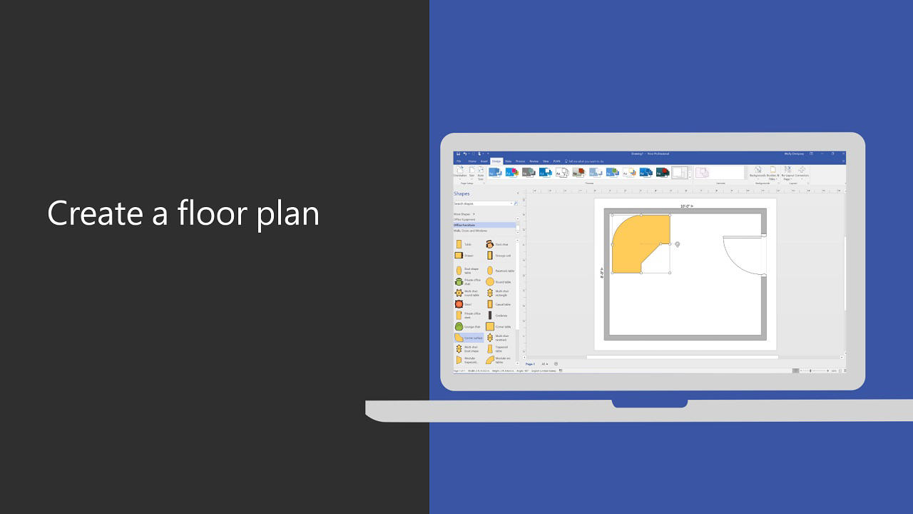 Visio - Create a Floor Plan