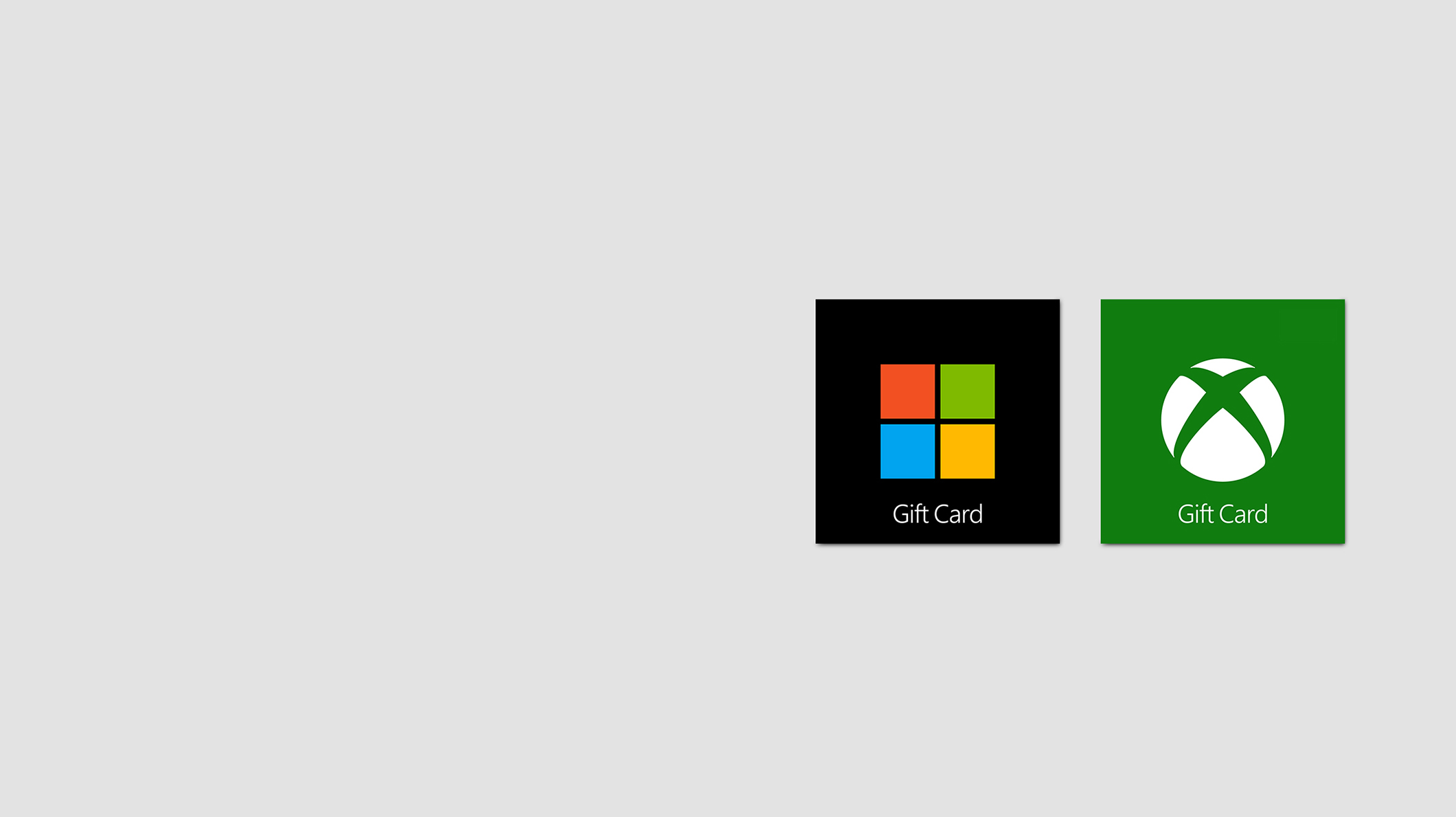 A Microsoft Store Gift Card and an Xbox Gift Card