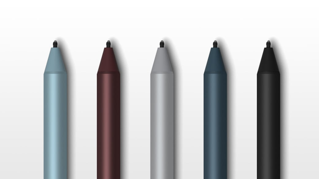 Surface Pro pen's in an assortment of colors