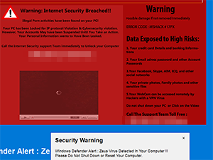 Warning Internet Security Breached!!