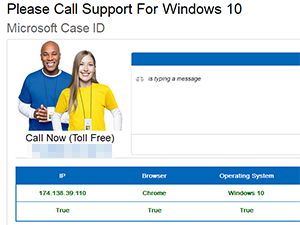 Please Call Support for Windows 10