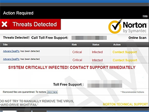 Threats Detected Norton by Symantec Online Scan