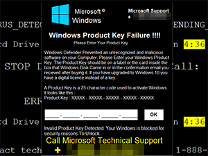 Windows Product Key Failure!!!