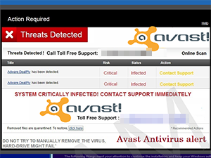 Threats Detected - Avast! Online Scan