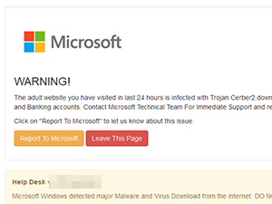 Microsoft WARNING!
