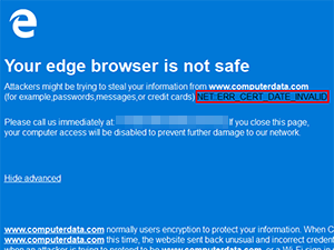 Your browser is not safe