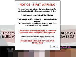 NOTICE – FIRST WARNING A remote user has initiated a suspicious transfer