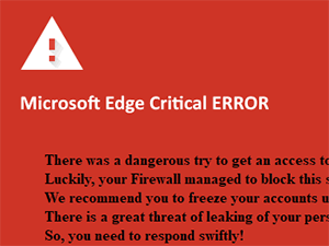 Microsoft Edge Critical ERROR