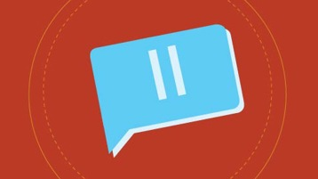 A pause button icon.
