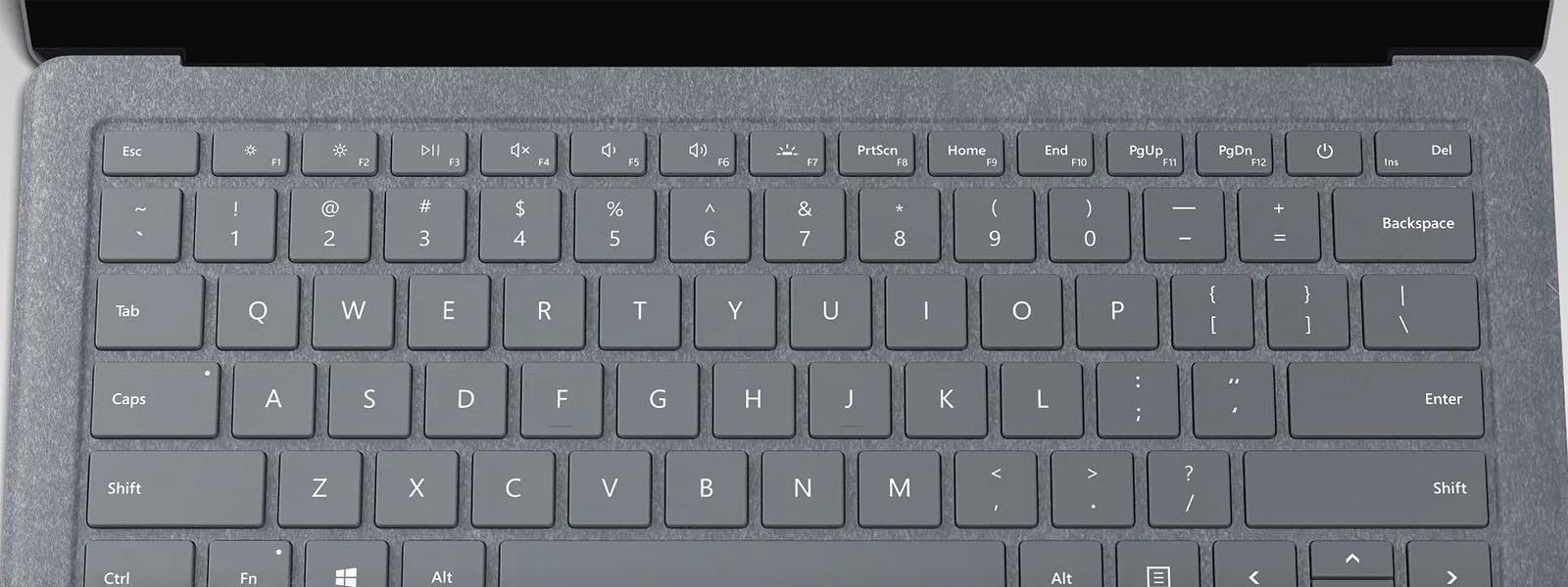 Buy surface laptop performance made personal microsoft close up of gray surface laptop keyboard buycottarizona