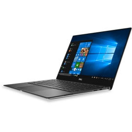 Angled view of a silver Dell XPS