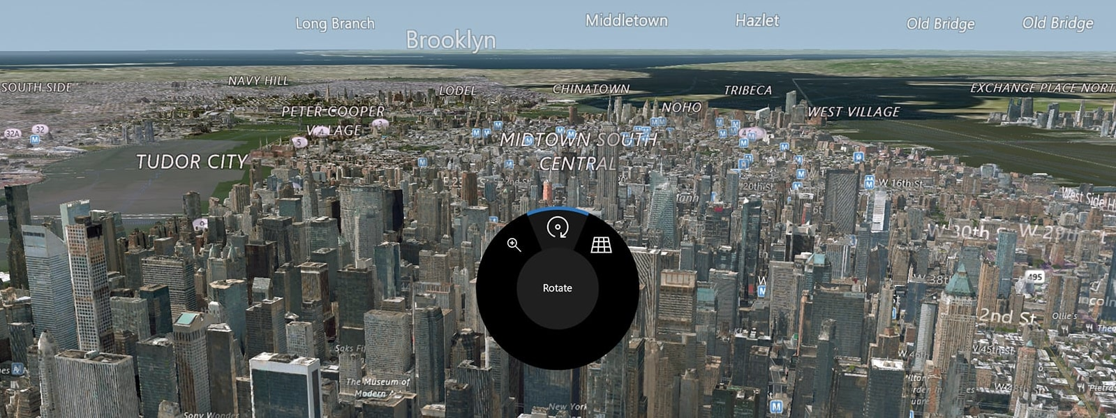 Dial interface on Windows Maps