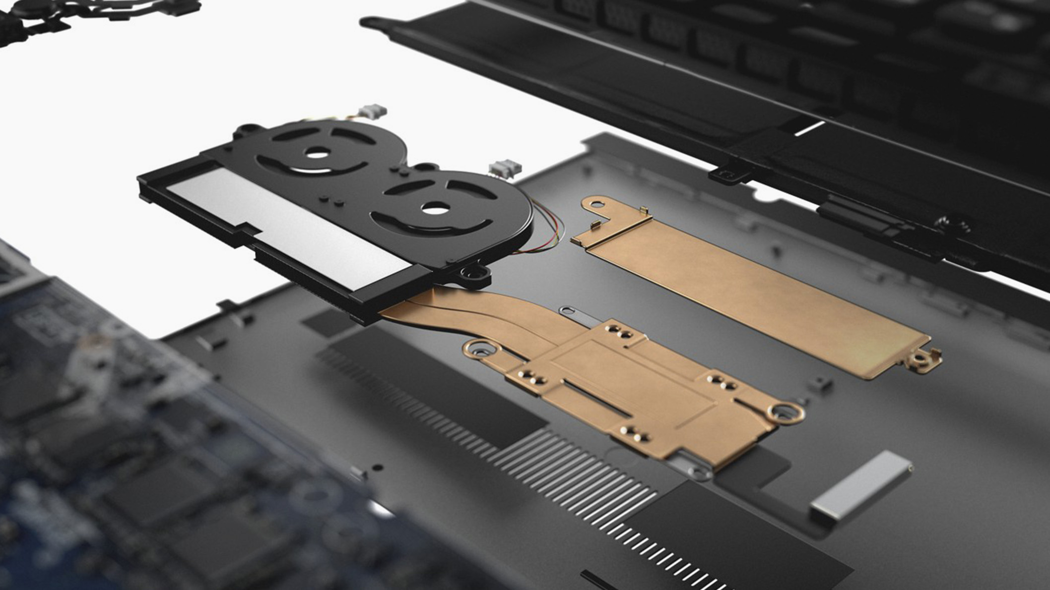 Internal components of the Dell XPS