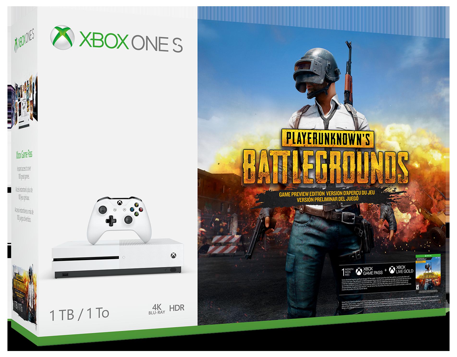 Xbox One S 1TB Console – PLAYERUNKNOWN'S BATTLEGROUNDS Bundle