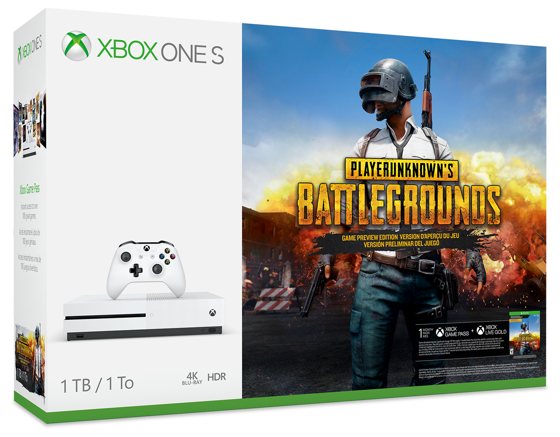 Image of Console Xbox One S da 1 TB - Pacchetto PLAYERUNKNOWN'S BATTLEGROUNDS