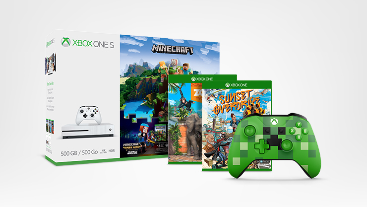 Xbox One S console with Games and Controller