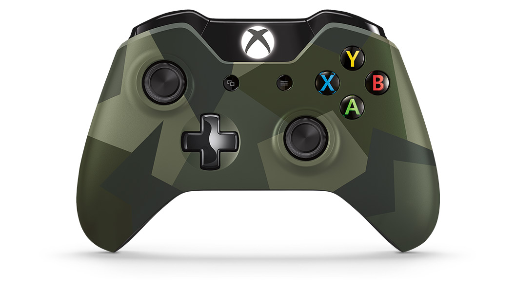 Xbox wireless controller se armed forces xbox front view of armed forces special edition wireless controller ccuart Choice Image