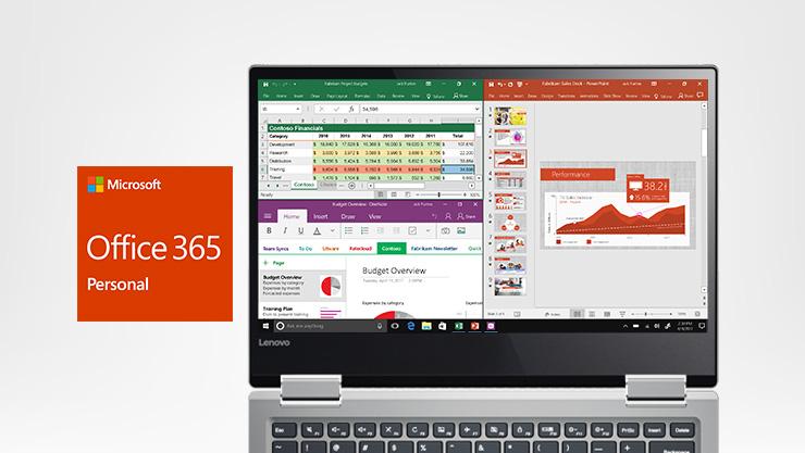 PC Lenovo et logo Office 365