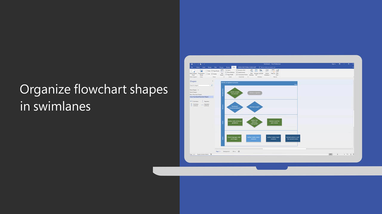 Video organize flowchart shapes in swimlanes office support pooptronica Images