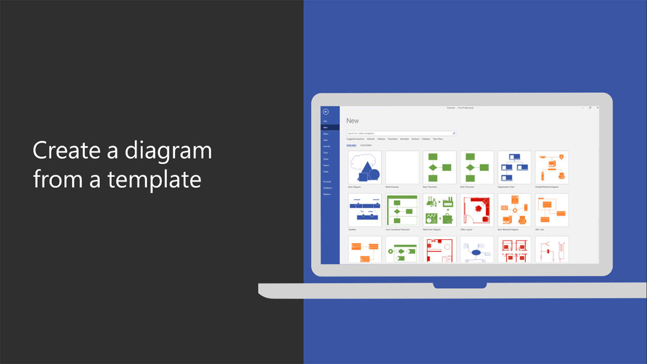Video: Create a diagram from a template - Office Support