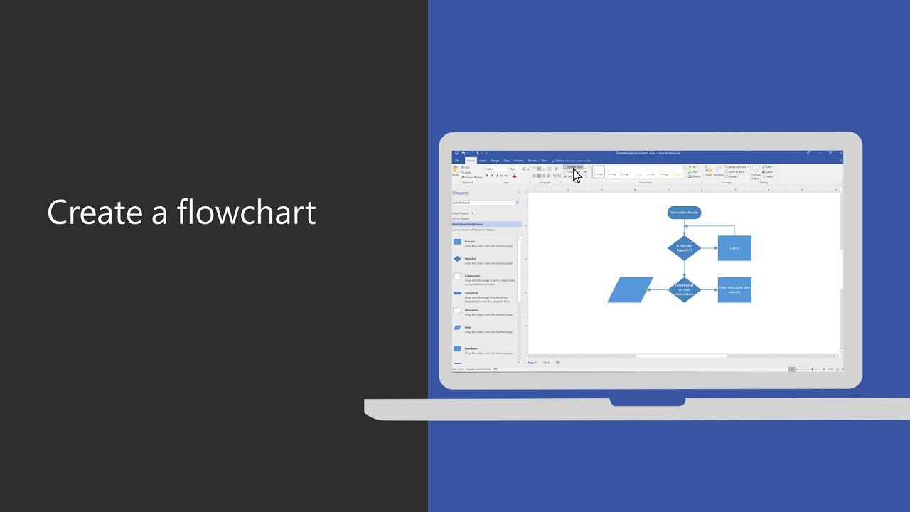 Video Create A Flowchart Office Support