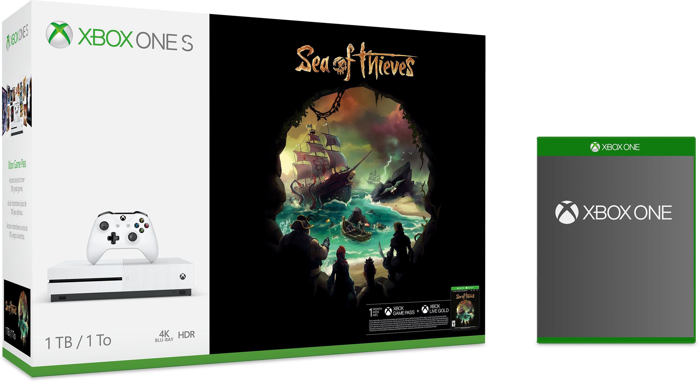 Xbox One S Sea of Thieves bundle with free game