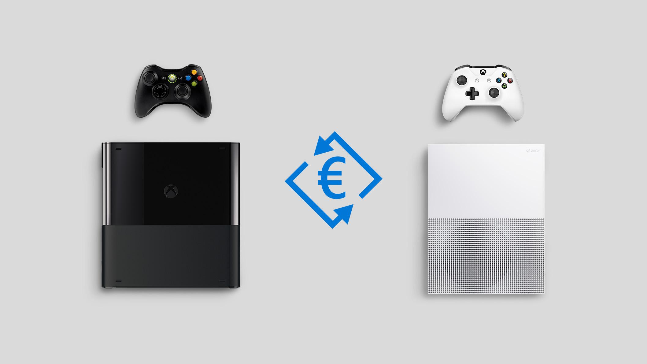 Símbolo del euro, Xbox One X y Xbox One S