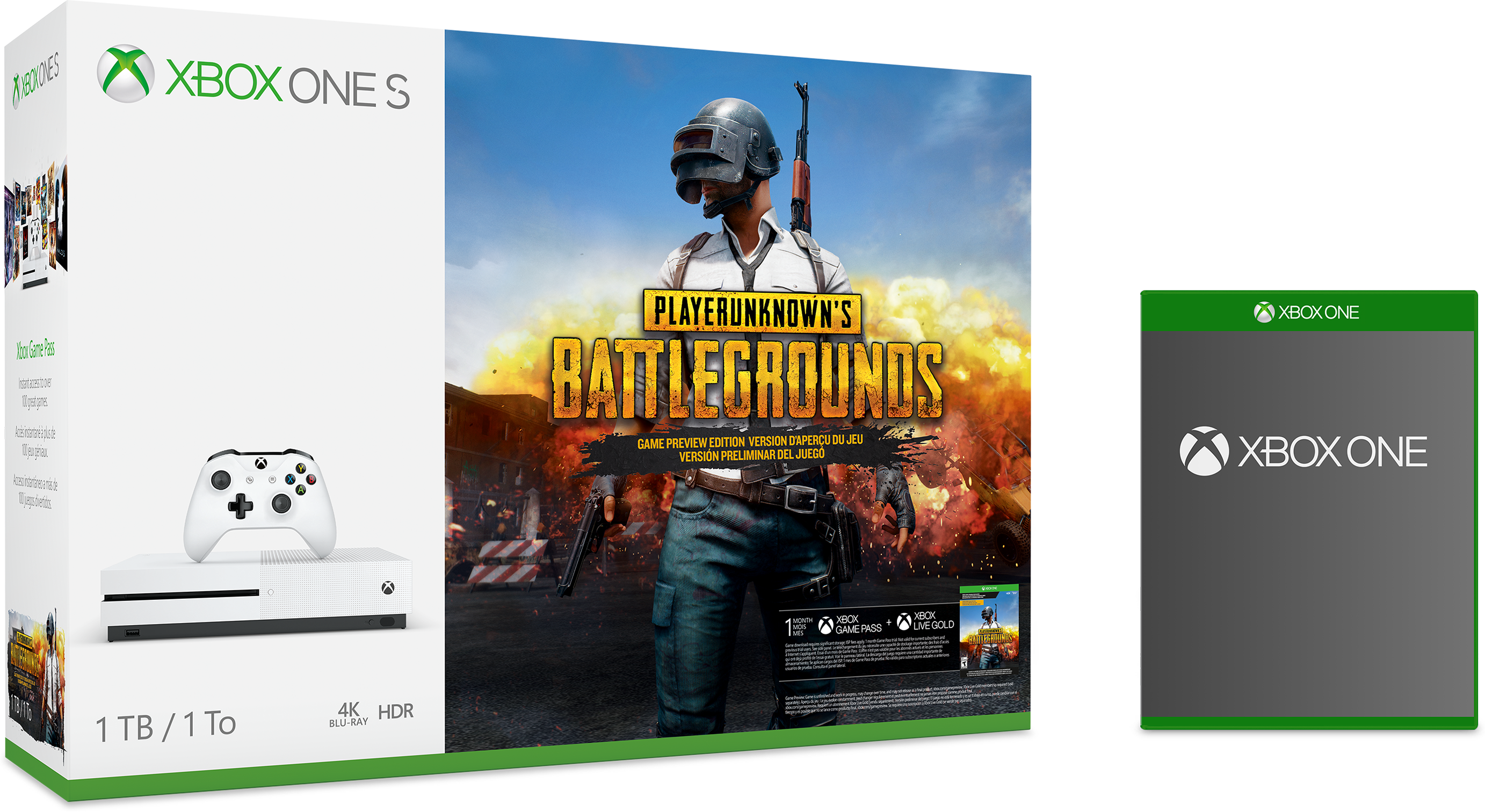 Xbox One S PLAYERUNKNOWN'S BATTLEGROUNDS bundle with free game