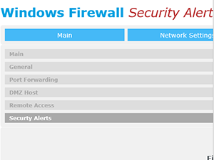 Windows Firewall Security Alert