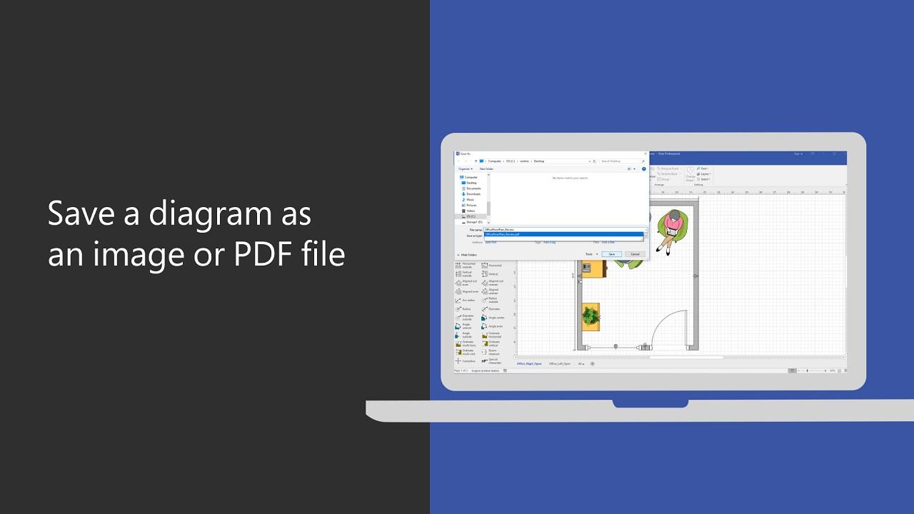 Save a diagram as an image or PDF