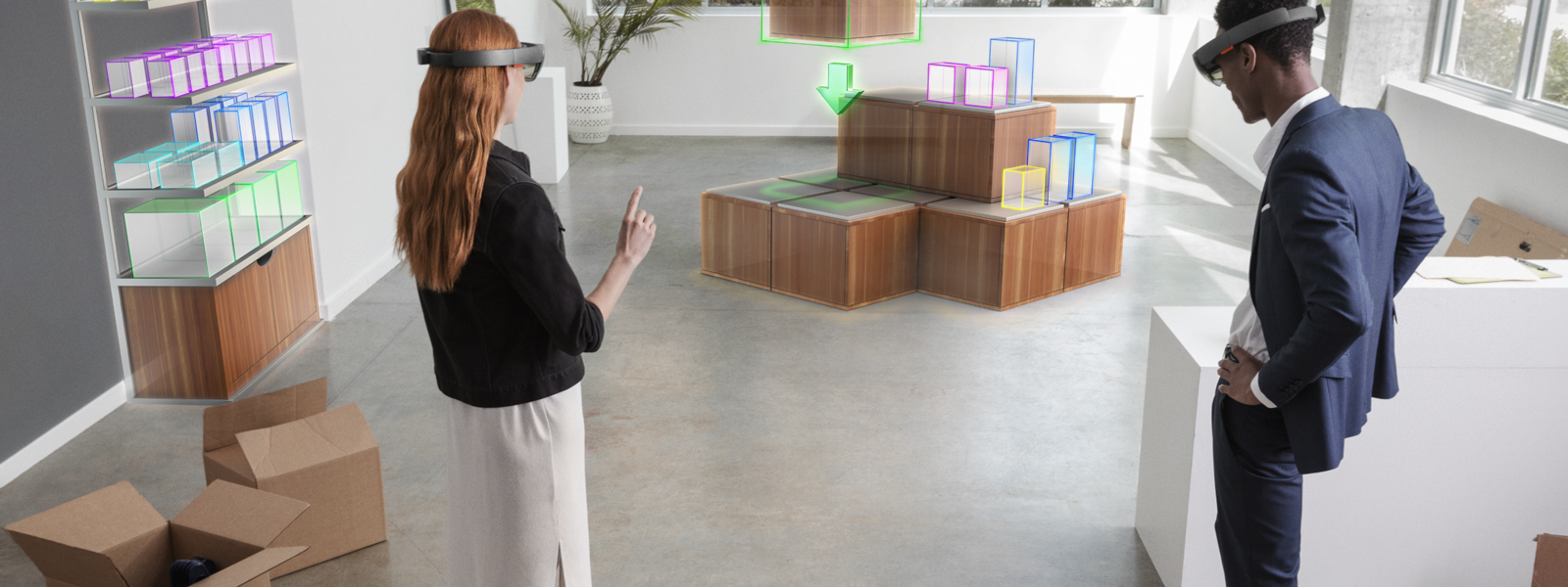 Using HoloLens to plan retail space in mixed reality