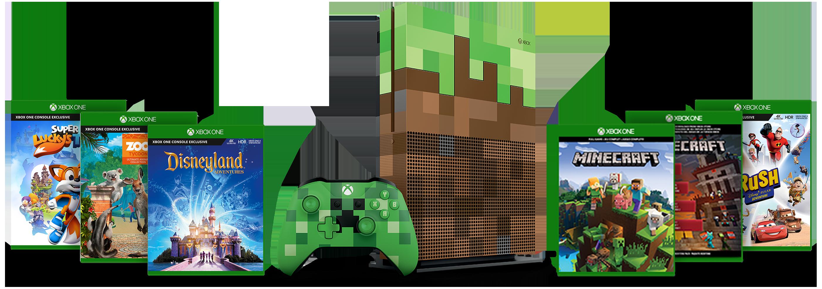 [Microsoftstore.at] Xbox One S Minecraft Edition Family Bundle s 5 igricama za 299€