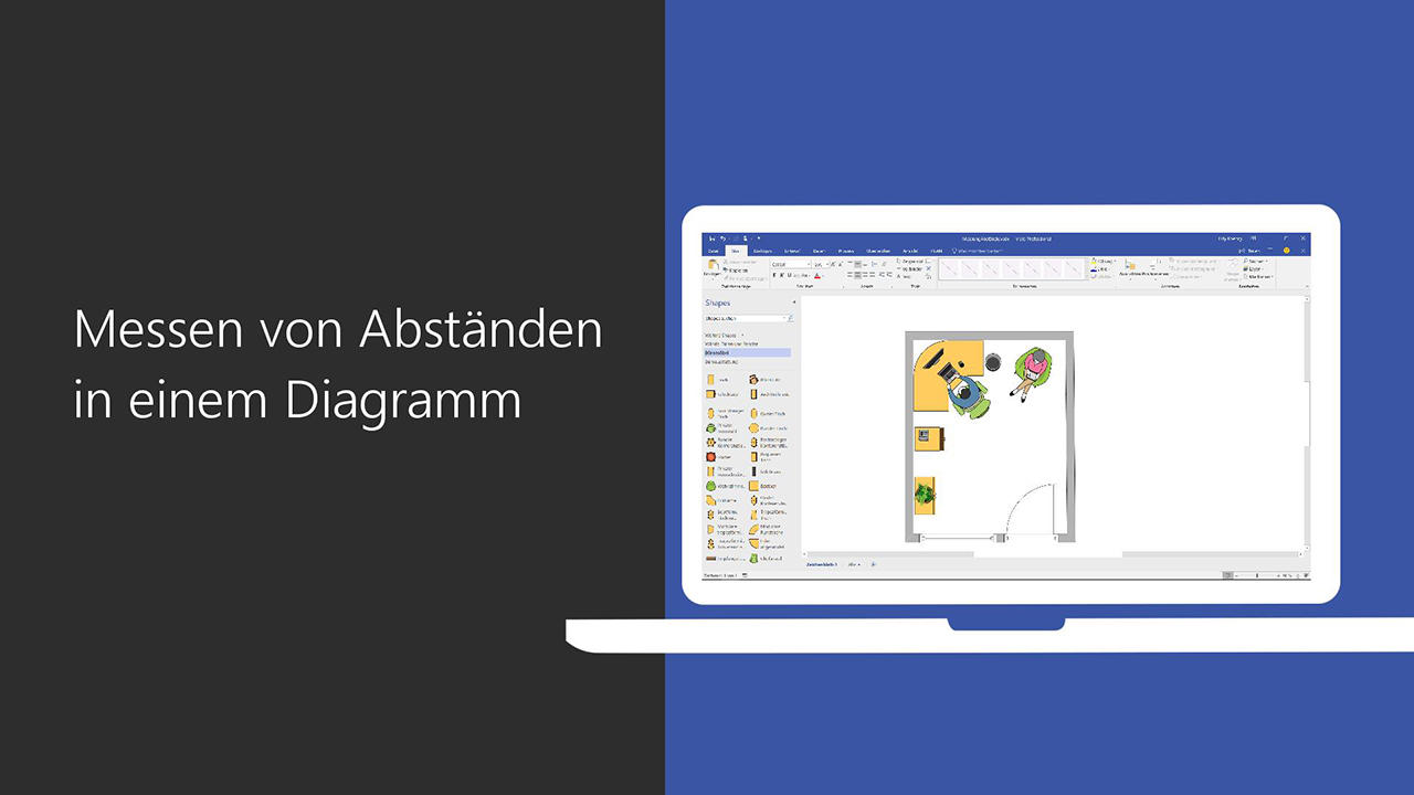 Video: Messen von Abständen in einem Diagramm - Office-Support