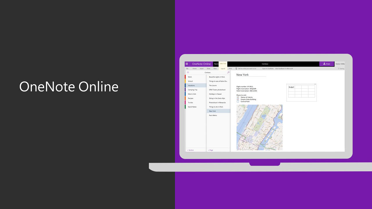 basic tasks in onenote online - onenote