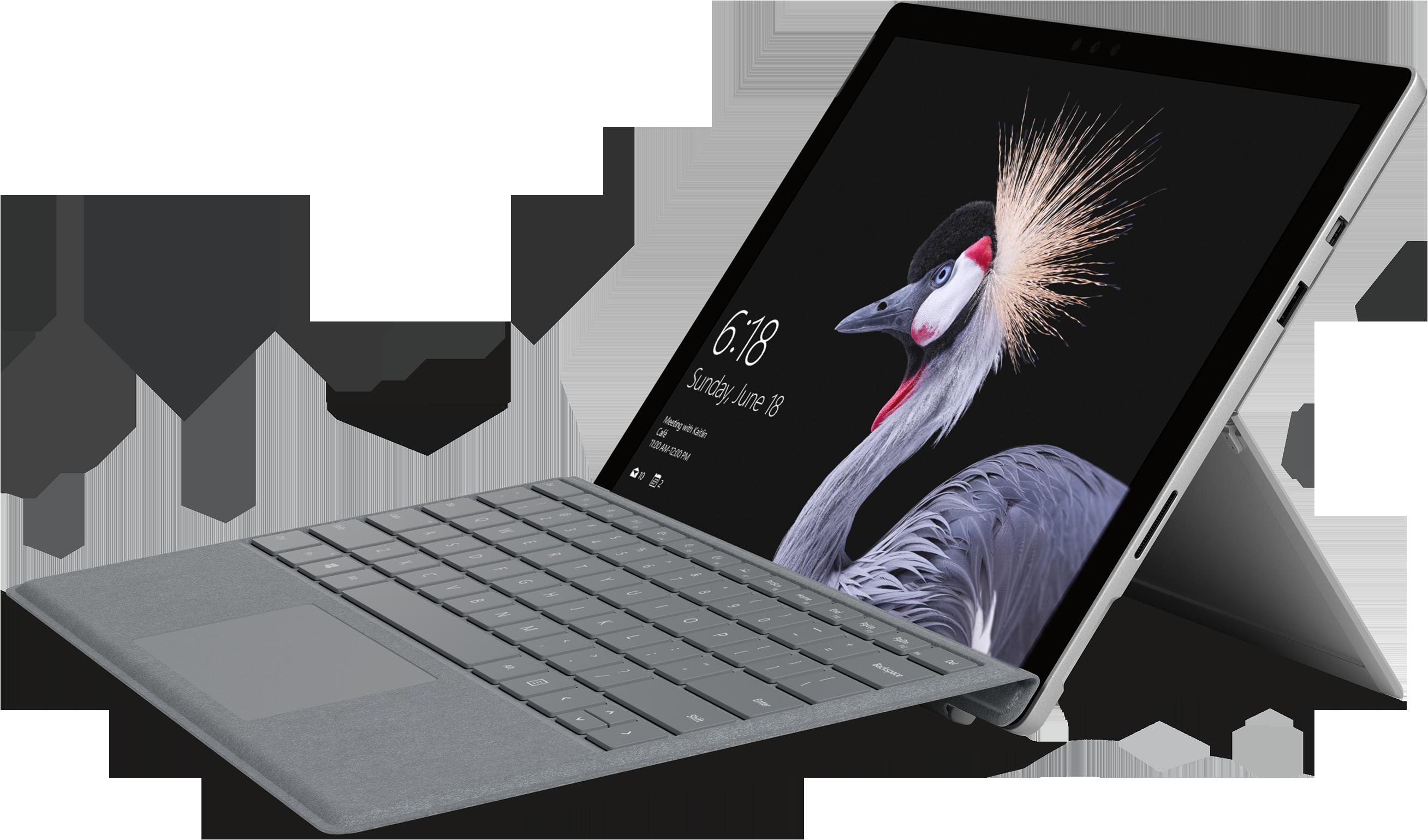 Surface Pro con Cover con tasti platino