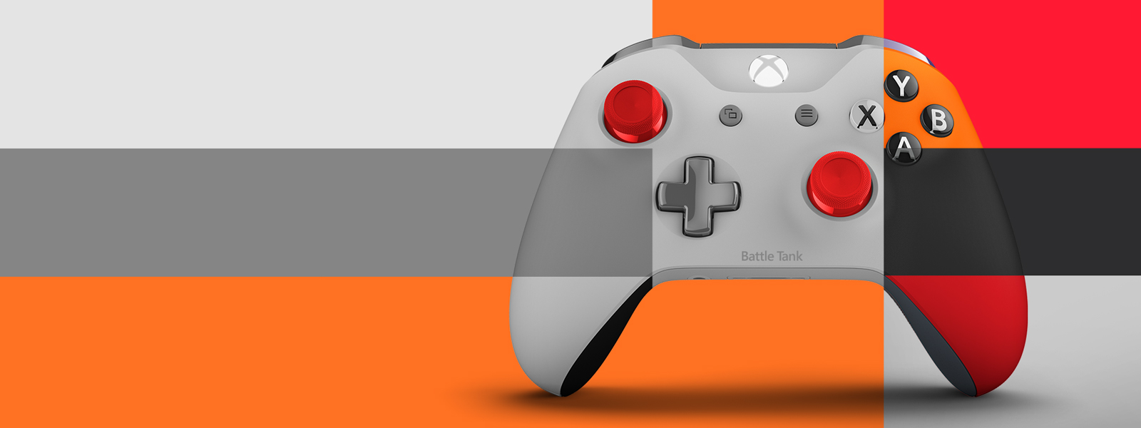 Xbox design lab controller in the Mondrian style