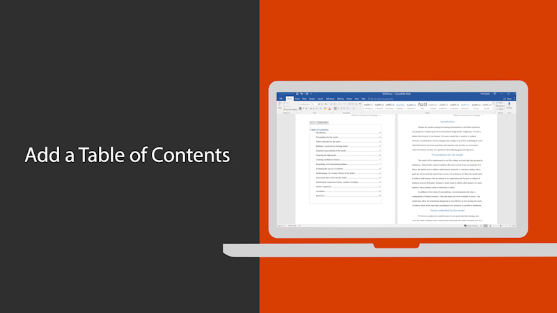 Add a Table of Contents in Word