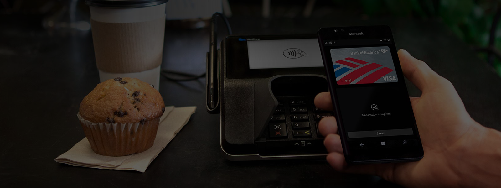 Use Microsoft Wallet on a Windows 10 phone to tap and pay