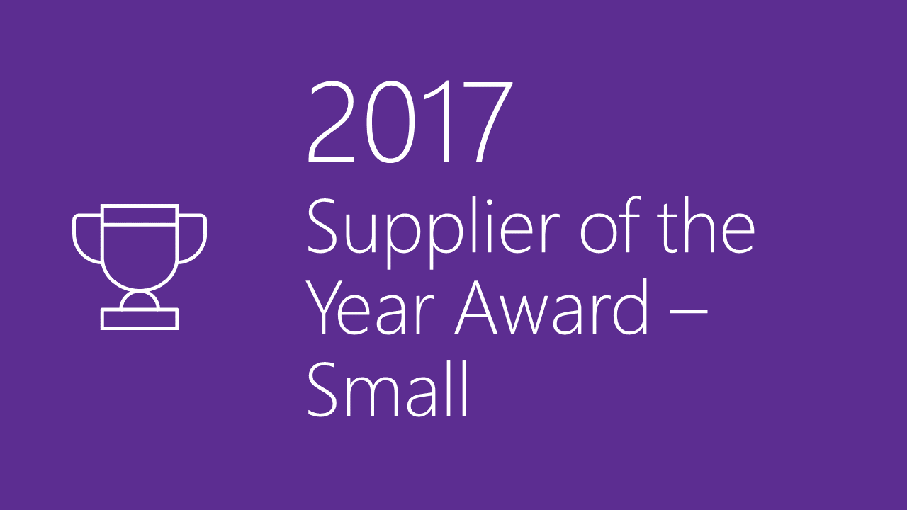 2017 Supplier Diversity Award - Small