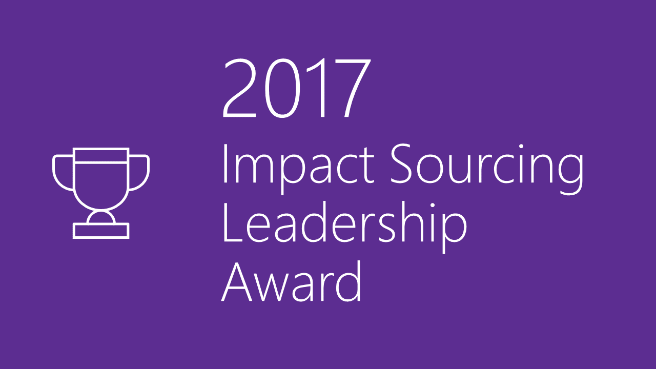 2017 Impact Sourcing Leadership Award