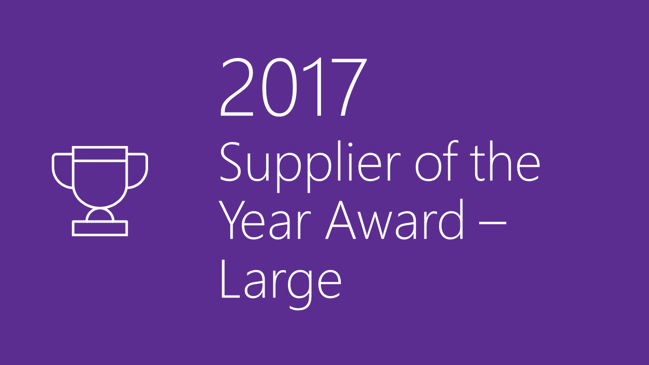 2017 Supplier Diversity Award - Large