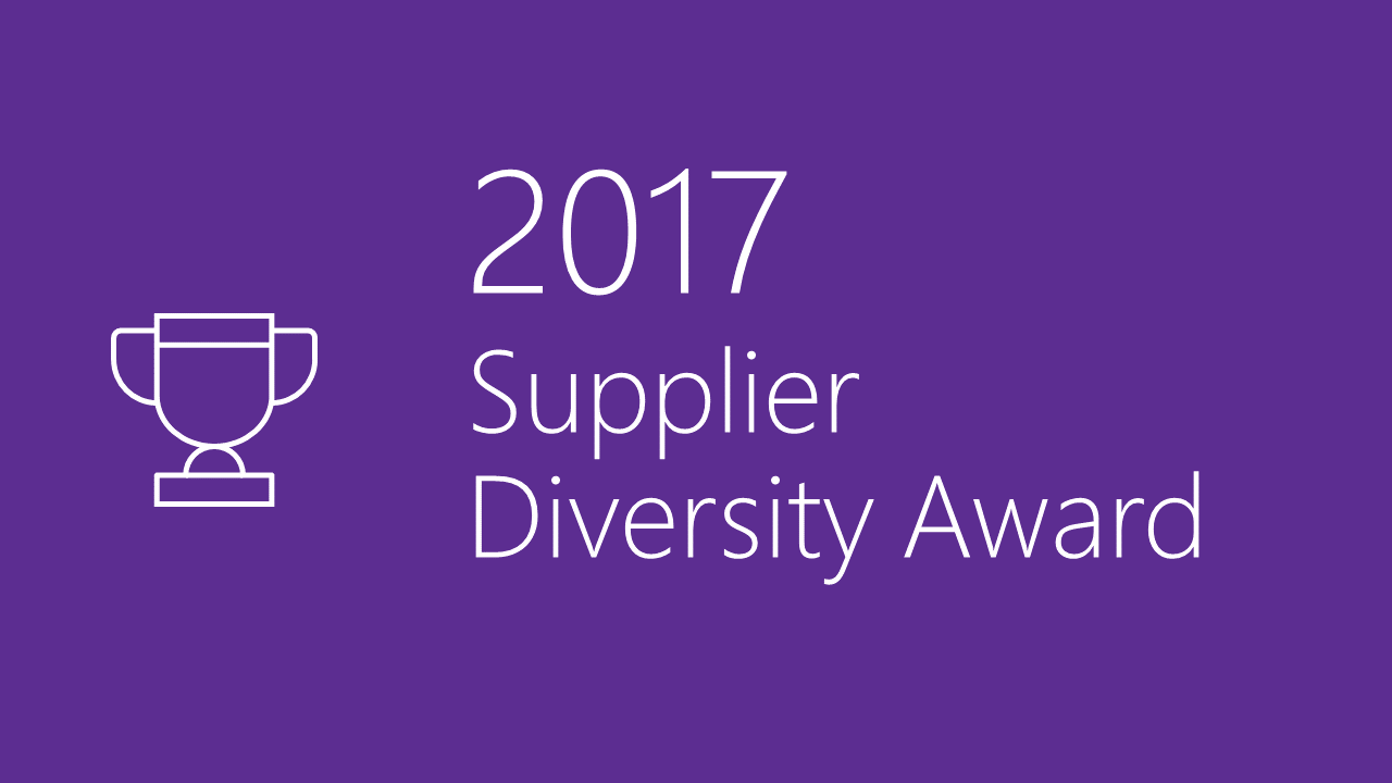 2017 Supplier Diversity Award