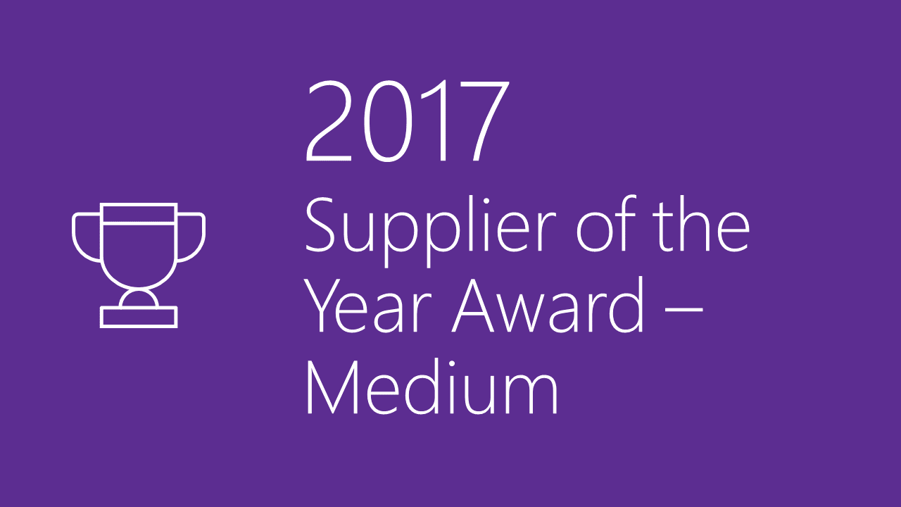 2017 Supplier Diversity Award - Medium