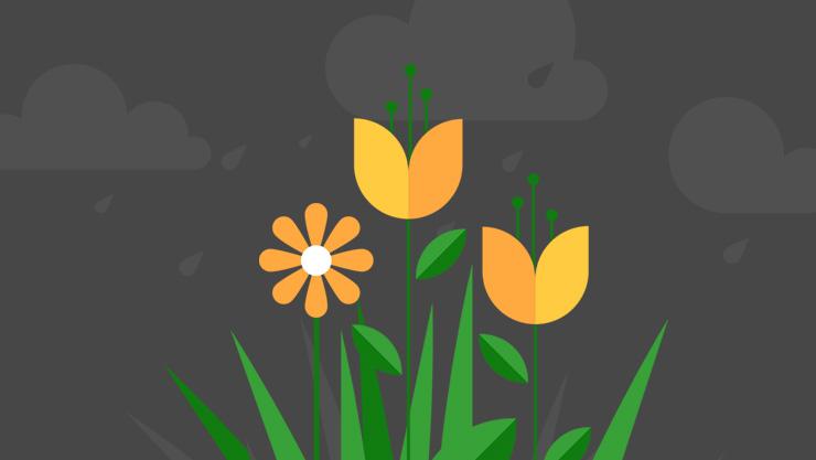 Thème Printemps avec fleurs
